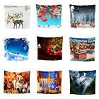 Christmas Print Wall Hanging Tapestry Beach Picnic Throw Yoga Mat Towel Blanket