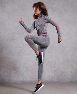 Superdry Damen Performance Leggings Mit Reflektierenden Akzenten