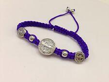 st benedict bracelet Purple Color handmade