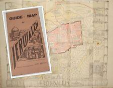 RARE Jewish Palestine Israel Jerusalem Guide Map Syrian Orphanage 1940's