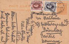 Egypt 1927 Stationery card sent w Hilwan Les Bains CD to Germany