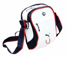 NEW AUTHENTIC PUMA BMW MOTORSPORT PORTABLE WHITE SMALL MESSENGER SHOULDER BAG
