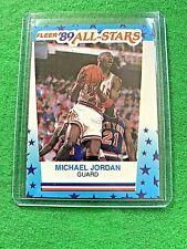 Michael Jordan Jersey #23 Chicago Bulls All Stars 1989 Fleer Basketball