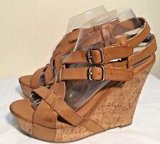 Size AU 8.5 / EUR 39.5 / UK 6.5 Women's Open Toes 2 Buckle Wedge Sandals