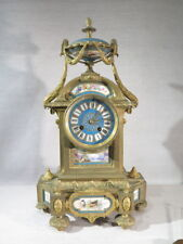 ANCIENNE PENDULE BRONZE PORCELAINE SEVRES STYLE LOUIS XVI EPOQUE SECOND EMPIRE