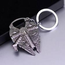 1 * Vintage Silver Star Wars Millennium Falcon Metal Keychain Gift Bottle opener