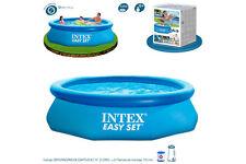 Schwimmbad aufblasbar abnehmbar 3853L achteckige 305x76cm mit Kläranlage 1250 L/