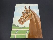 Vtg Paint By Number Painting Horse Head Craft Master Equine Beauties PBN 10x14