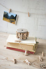 Clothespin on Spool for photo/card display, natural finish