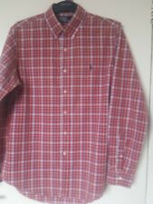 "Ralf ralph Lauren designer red check Shirt uk  L  cotton perfect cond 40"" chest."