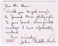 JOHN HEDDLE NASH   Opera Baritone Singer   Sadler's Wells      HAND SIGNED Card