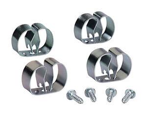 Crawford 13201 Grip Clip Organizer, Silver, Medium, 4 Count