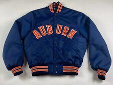 Vintage Auburn University Tigers NCAA Jacket Satin Bomber Medium HOWE USA