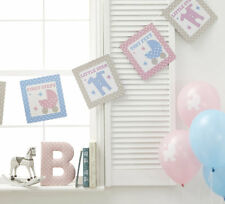 TINY FEET Bunting, Baby Shower, Pink Blue Party Supplies,Banner Decoration 49564