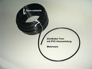 5m PVC ZÜNDLEITUNG ZÜNDKABEL schwarz 7mm Meterware 4,50 €/m