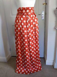 Zara Trafaluc Collection red Polka Dot Palazzo Pants Size S (8/10)