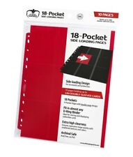 ULTIMATE GUARD - 18-Pocket pages side-loading RED-carte copertine 9 tasche