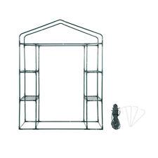 143 x 73 x 195cm 4 Tier Mini Greenhouse Iron Stands shelves Garden Balconies HG