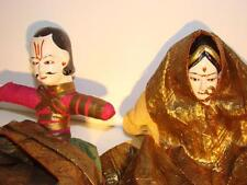 ANTIQUE INDIAN INDONESIAN COMPOSITION IN COSTUME RARE MARRIAGE COUPLE