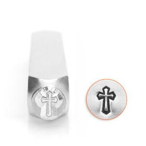 Cross Outline ImpressArt Metal Stamp, Religious, Christian, Jesus Jewelry Punch