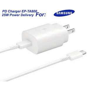 For Galaxy Note10+ EP-TA800 UK Samsung PD 25W Fast Charger Quick Travel Ultra