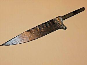 Damast Klinge, bayerische Jagd Nicker Klinge doppelt gehämmert, 10cm lang