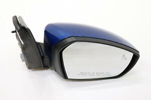 2017 - 2019 FORD ESCAPE FRONT RIGHT DOOR MIRROR BLUE PAINT CODE N6 OEM