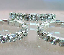 Lots 12Pcs Stretchy 1Row Crystal Rhinestone Rings
