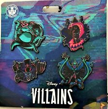 NEW 2020 Pin Trading Disney Parks Villains 4 Pin Set