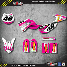 Full Custom Graphic Kit - PINK SHOCKWAVE stickers to fit KTM 50 SX 2009 - 2015