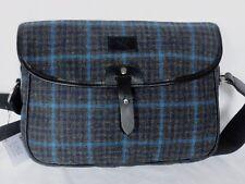 Nuevo con etiquetas Hackett London Azul/Gris Tweed Lana cuerpo Mensajero Bolsa RRP £ 460
