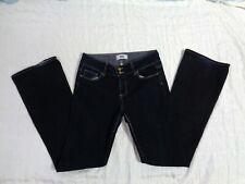 Women's Paige Memphis Dark Rinse Hidden Hills Mid Rise Boot Cut Jeans Sz 29 x 34