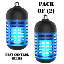 Pack of (2) SereneLife Pslbz1 Bug Zapper Indoor Electric Pest Control Light Bulb