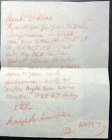 1979 Handwritten letter by famous actor and signed by SIR RALPH RICHARDSON