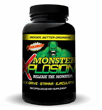 MALE ENHANCEMENT120 Pills MONSTER XPLOSION  EJACULOID EJACULATON SEX DRIVE