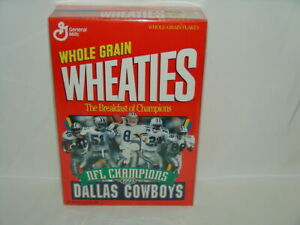 1993 NFL Champions Dallas Cowboys Wheaties SUPER BOWL CHAMPIONS Unopened + CARDS