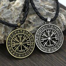 Anhänger mit Vegvisir Symbol Runen Wikinger Kelten Amulett Schmuck