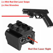 Mini Pistol Red Dot Laser Sight Scope Picatinny Rail Mount For Airsoft Shooting