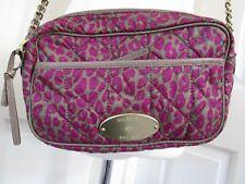 MULBERRY Rosie Satchel Mini Leopard Foxglove Pink Quilt Across Body Bag  HA