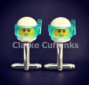 LEGO ® Mini Figure SCUBA DIVER Cufflinks Unique Present Gift Birthday Wedding