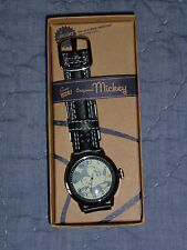 NEW ORIGINAL 1928 DISNEY MICKEY MOUSE WATCH LEATHER STRAP by SII (Seiko) NOS
