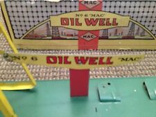 ANTIQUE MAC NO. 6 OIL WELL TIN LITHOGRAPHED WIND UP TOY IN ORIGINAL BOX RARE