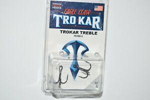 lazer tro kar trokar  treble hooks tk300-5  size 5   2 per pack crazy sharp