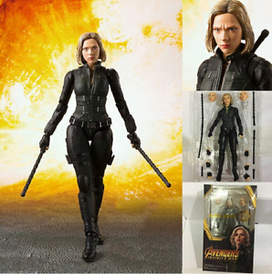 Marvel Black Widow Avengers SHF PVC Action Figure Collectible Model Toy 15cm