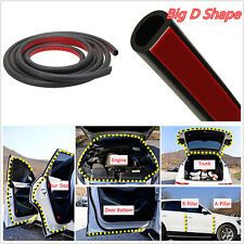 8M>Big D-Shape Moulding Black Trim Rubber Strip Car Door Edge Seal Weather-strip