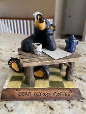 "Big Sky Carvers Bearfoots ""A Bear Before Coffee"" Bear Collection Jeff Fleming"