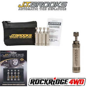J.T. Brooks AUTOMATIC TIRE DEFLATORS SET OF 4 USA MADE Faster than ARB EZ TIRE