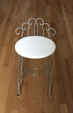 Vintage Mid Century Hollywood Regency Wire Metal Vanity Chair Stool