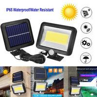 COB 100LED Solar Lamp Motion Sensor Waterproof Outdoor Garden Night Wall Light