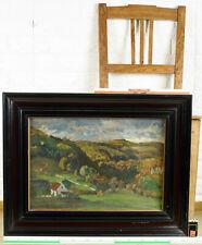 Hans Richard von Volkmann 1860-1927 Ölgemälde antik herbstbunte Wälder landscape